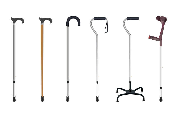 Various Types of Walking Canes for the Elderly