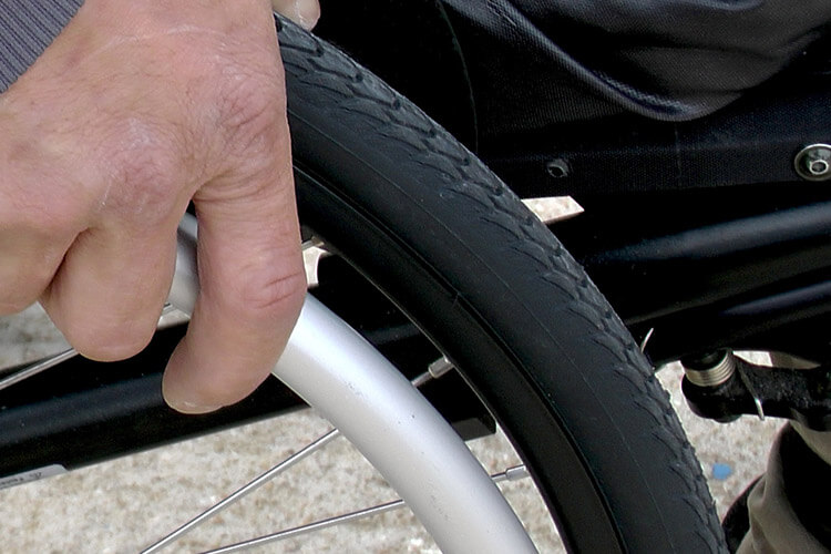 Close Up of Wheelchair Tire