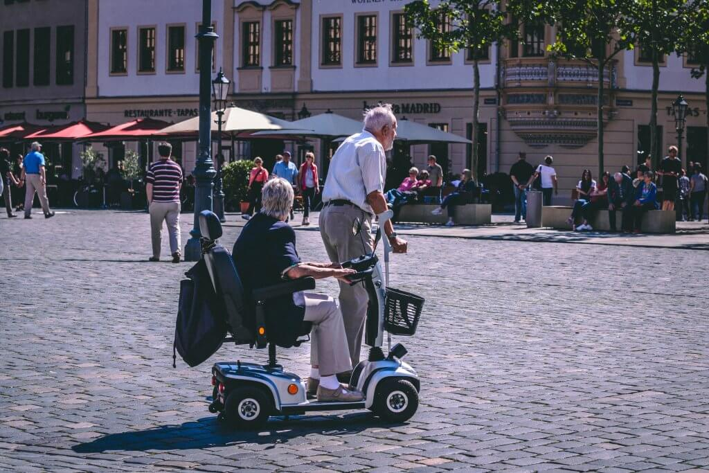 Mobility scooter for seniors