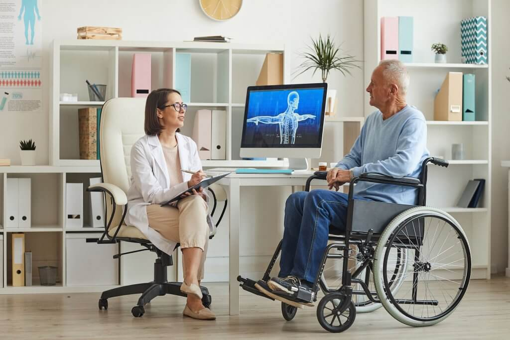 Nursing home with medical supervision